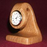 Suspended Time. Dali inspired clock in oak